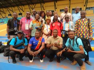 La presse sportive congolaise à huye pose avec le charismatique Ibenge Coaché!