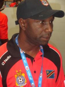 Florent Ibenge Ikwange au briefing d'avant-match au Sheraton Hotel de Como en Italie