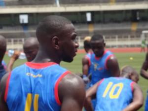 Yannick Yala Bolasie à Kinshasa en préparation du match RD Congo Angola (2-1) 3ème Jnée Elim CAN-Gabon 2017